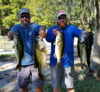 Craig Cashion and Brian Wical with 20.42 lbs and flrst place at Cypress Lake 10-28-18