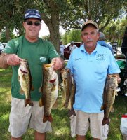 Dwayne Haga and Dave Metzler with the first place catch