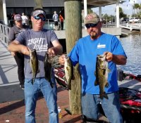 Ryan Sperling and Chris Novak 1st place with 12.23 lbs at West Lake Toho