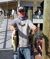 Brian Davidson and Karl Kearcher (not pictured) with 11.64 lbs 2nd place at West Lake Toho