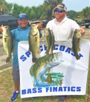 Junior Solis and Brian Wical with 21.41 lbs and 2nd place on Lake Kissimmee 5-26-2020