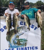 Mike Neal and Justin Sonnier with 20.69 lbs and 3rd place on Lake Kissimmee 5-26-2020