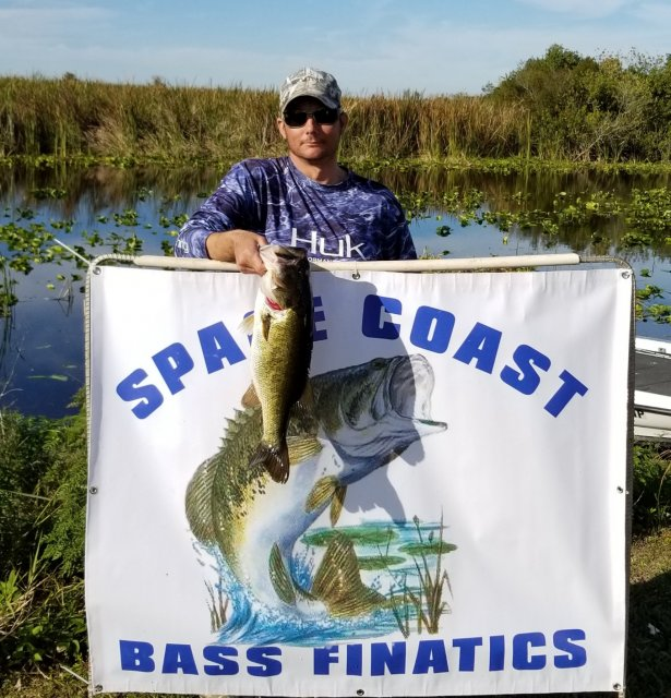Aarom Marek with the Tournament Big Bass 5.79 lbs Miami-Garcia 1-26-20