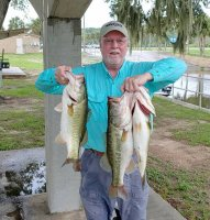 Mike Calloway, First place two day total 36.67 lbs and big bass 6.13 lbs at Harris Chain AFT Tournament, 6-6-2020