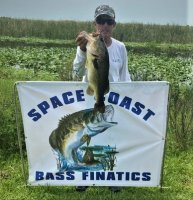 Greg Clark with Tournament Big Bass 6.90 lbs at Miami-Garcia on 6-28-2020