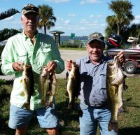 2016-10-30 Iler/Cruce with 16.18 Pounds of 1st Place Bass at Kissimmee