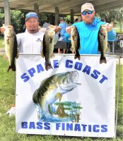 Jr. Solis and Brian Wical with 1st place 17.37 lbs at Lake Washington 7-26-2020