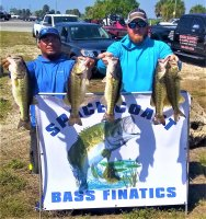 Junior Solis and Brian Wical with 19.90 lbs at Lake Okeechobee 3/28-29/2020