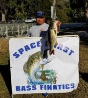 Santos Junior Solis with a 7.07 lb Big Bass at Lake Cypress on 12-15-19