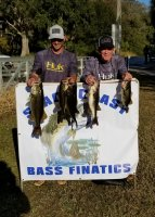 Matt and Buddy Byrd first place at Lake Cypress with 15.90 lbs on 12-15-19