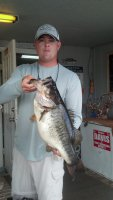 Justin Neal with a 9 pound 6 ounce Giant from Blue Cypress Lake Practice (2014-11-30)