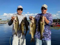 A: Roger and Aaron Marek with 16.96 pounds on West Lake Toho 02/28/21