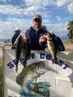 Mark Evans and Matt Byrd not pictured with 15.09 pounds on Lake Kissimmee 1/31/21