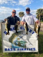 Erick Pickton and Brian Cole with 13.52 pounds on Lake Kissimmee 1/31/21