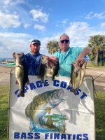 Clyde and Raymond Taylor with 19.00 pounds on Kissimmee 1/31/21