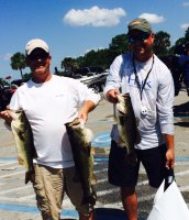 2016-04-24 Krik & Mark Williams With 20.66 for 1st and Big Bass at Garcia