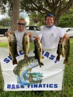Brian Cole and Erick Pickton with 18.81 pounds on Lake Poinsett 10/25/2020