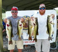 Craig Cashion and Brian Wical with 1st place limit 25.80 pounds