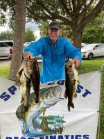 Larry Cruce with 19.99 pounds on Lake Poinsett 10/25/2020