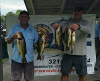 Dwayne Haga and Dave Metzler with the first place Lake Washington 14.93 lbs