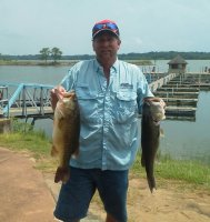 Scott Evans with best of 2nd place finish and big bass at Lake Eufaula Reel Money Team Trail event on 2015-06-27