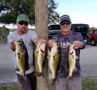 Matt Hinman and Rodney Glunt (alt) with 17.76 lbs 1st place on Miami-Garcia Impoundment 12-16-18